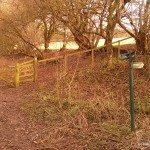 Photo of left turn on Walbury Hill Walk to car park