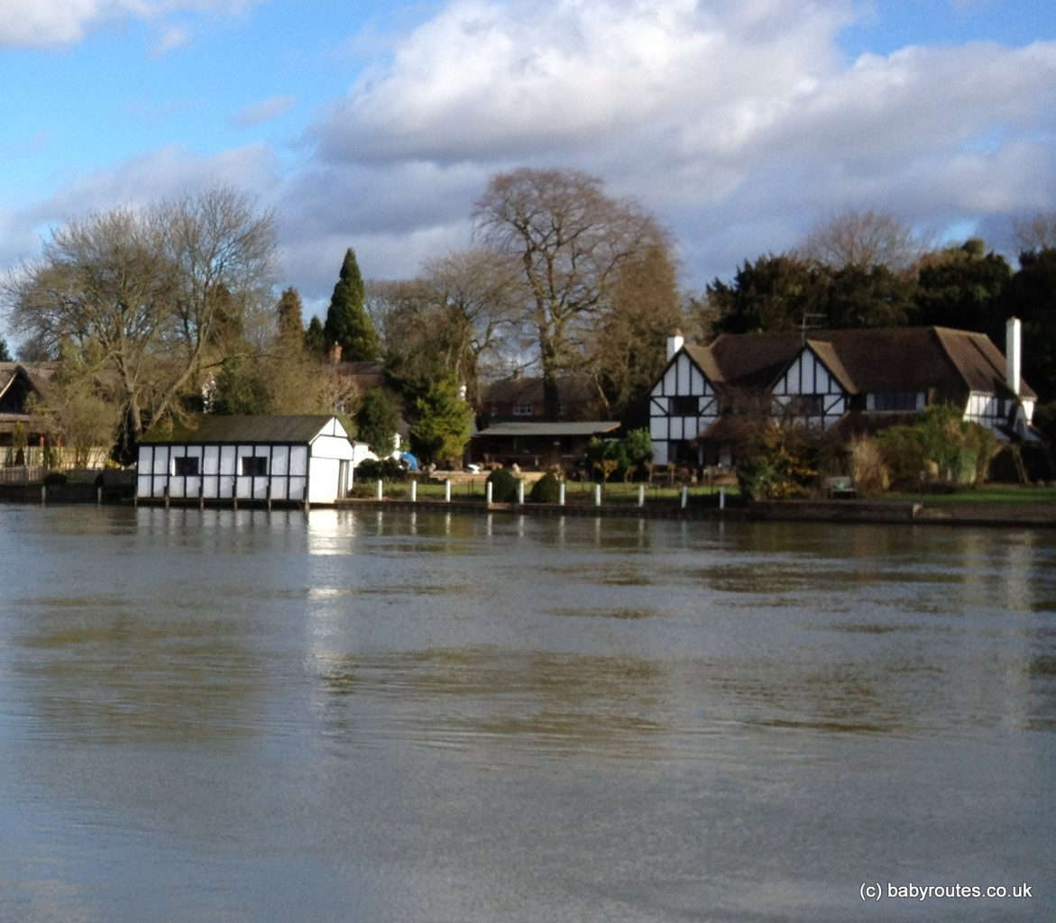 Picture perfect Thames-side houses, Cookham