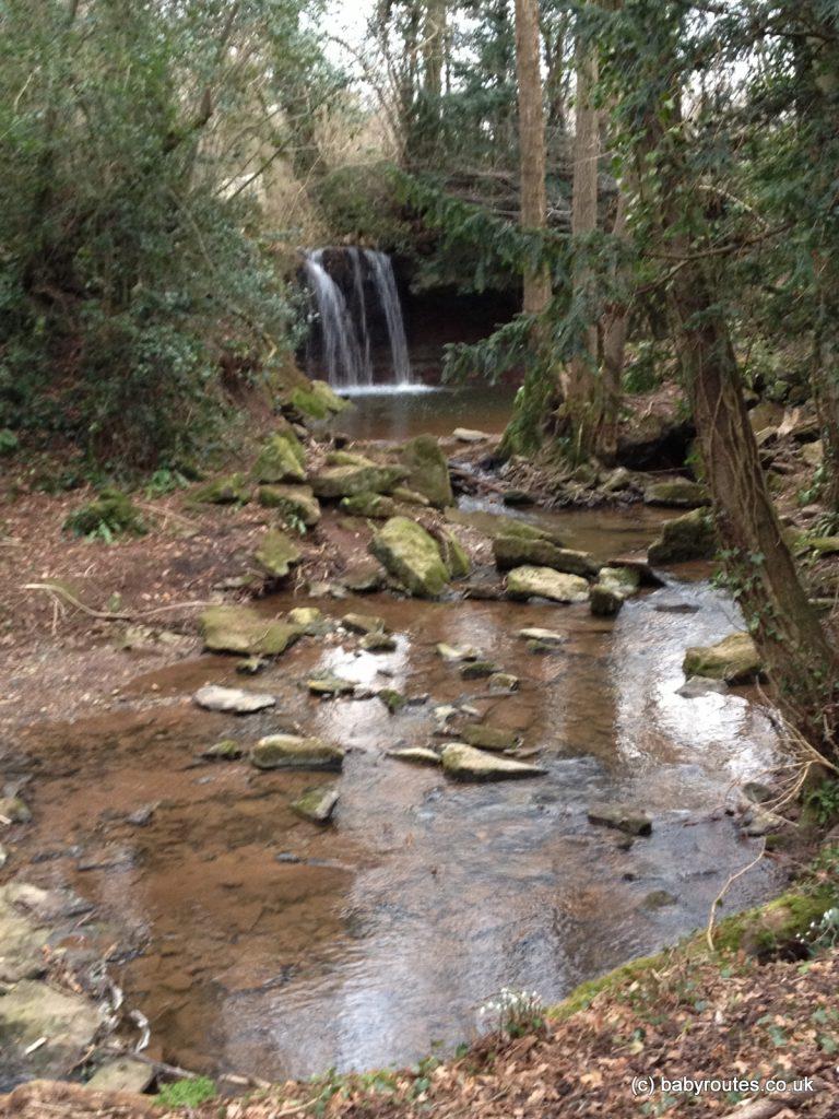 Winter waterfall, Chew Stoke