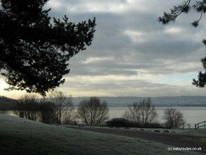 A wintery view of Chew Valley Lake