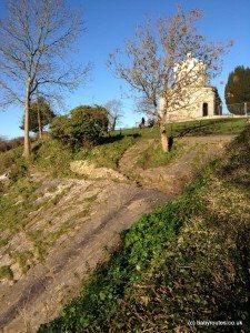 The sliding stone, Observatory Hill, Bristol