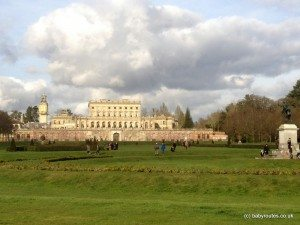 Views back across the Parterre to Clivedon House Hotel