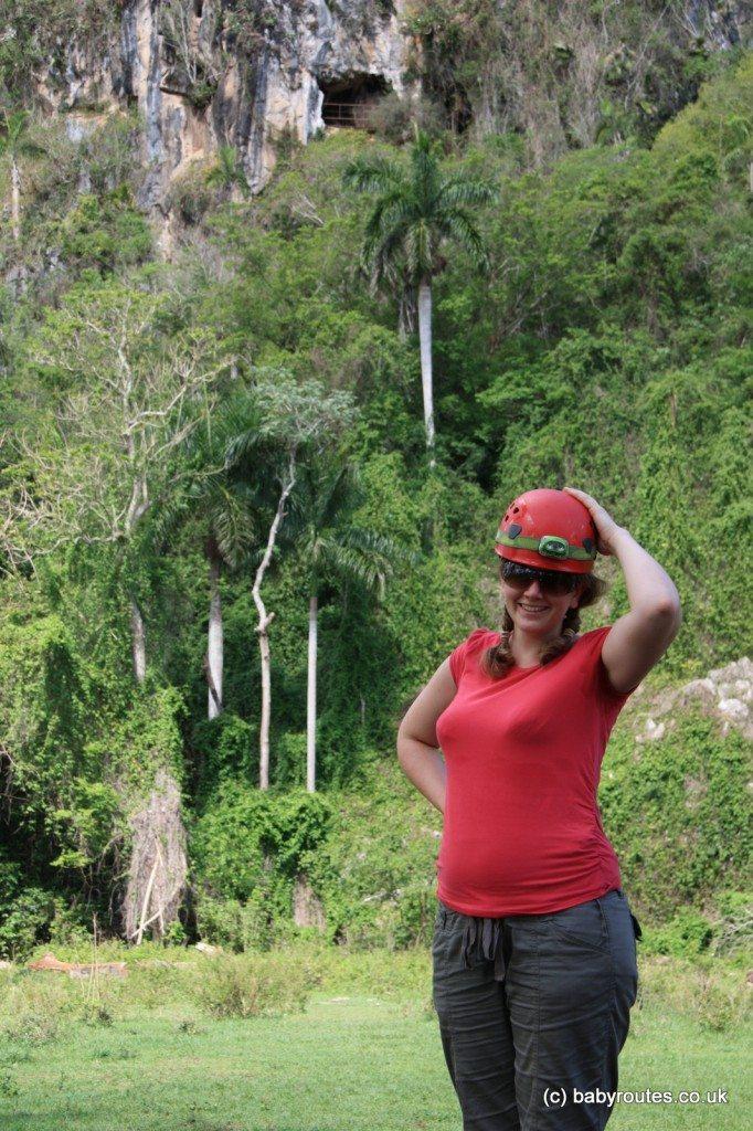 Caving at five months pregnant, Caverno de San Tomas, Vinales, Cuba