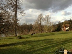 Lovely waterside lawns on the banks of the Thames, Cliveden