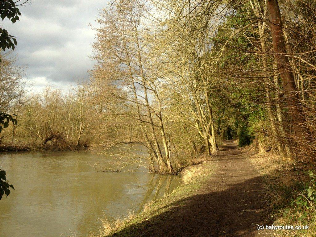 Riverside walking on the Cliveden Estate, National Trust, Buckinghamshire