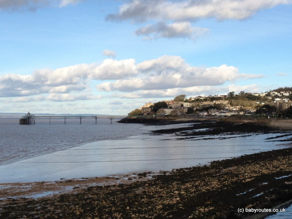 Clevedon seafront, Poets Walk