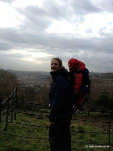 Enjoying the views on Bath Skyline Walk, Bath