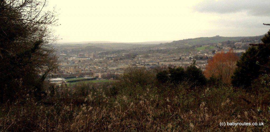 Bath Skyline Walk, views over World Heritage City of Bath