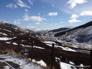 View from Glenlochsie railway walk in winter.