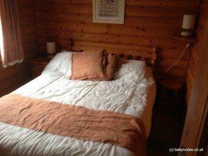 Master bedroom, Clashmore, Glen Beag Mountain Lodges, Cairngorms, Scotland