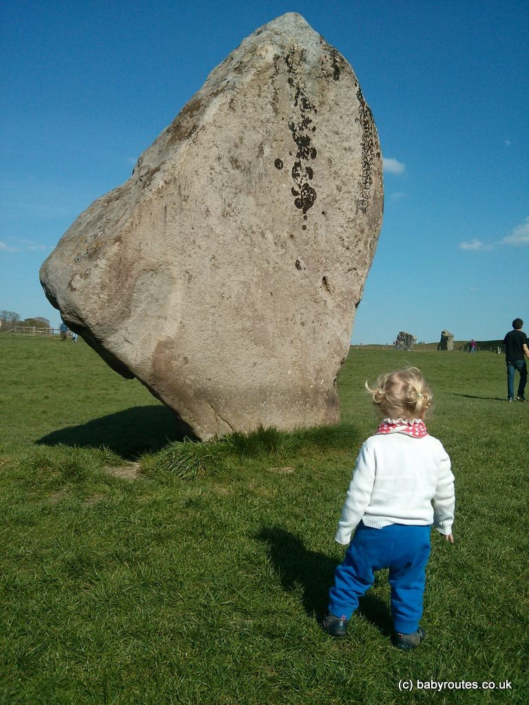 Avebury stone circle with kids, Wiltshire