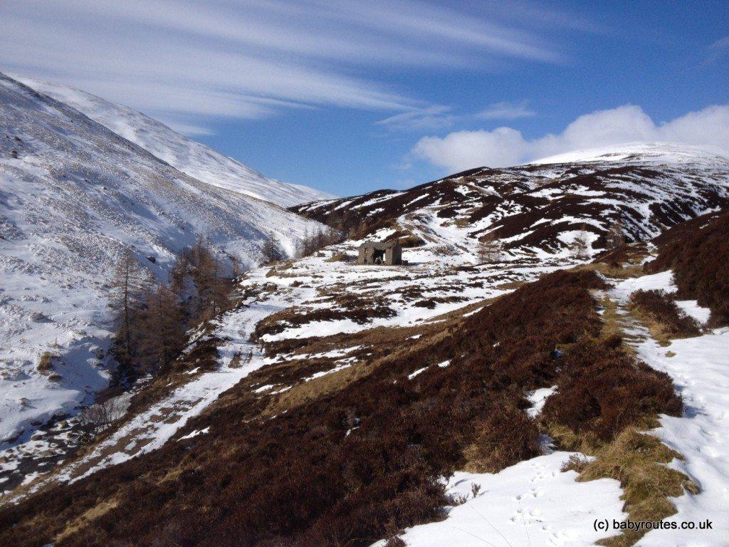 Glenlochsie Lodge, Glenlochsie Lodge & forest walk, Spittal of Glenshee, Cairngorms, Scotland