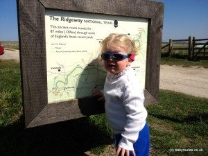 Toddler starting the Baby Routes Ridgeway walks