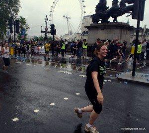 London 10k running by London Eye