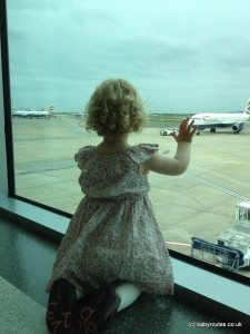 Watching planes at Heathrow Airport