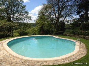 Swimming pool at Haremere Hall