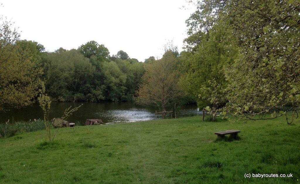 the lake, Sissinghurst Castle walk