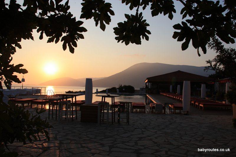 Emelisse Art Hotel, pool at dawn