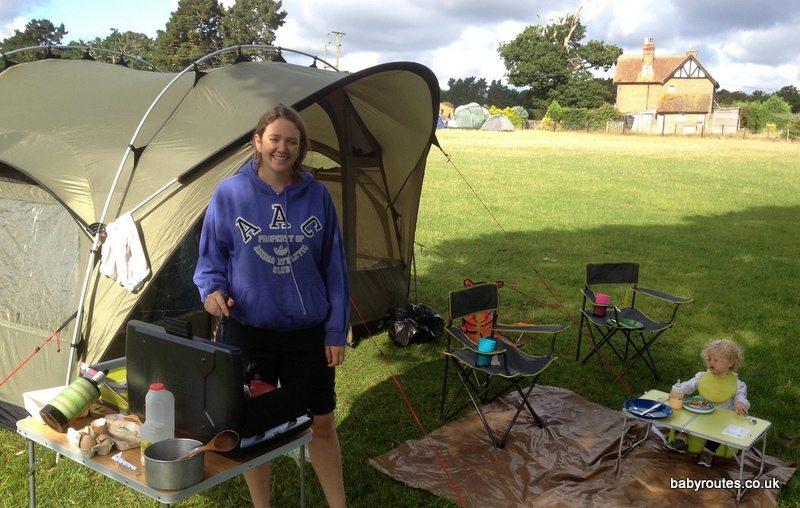 Camping at Pondhead Farm Campsite, Lyndhurst, New Forst