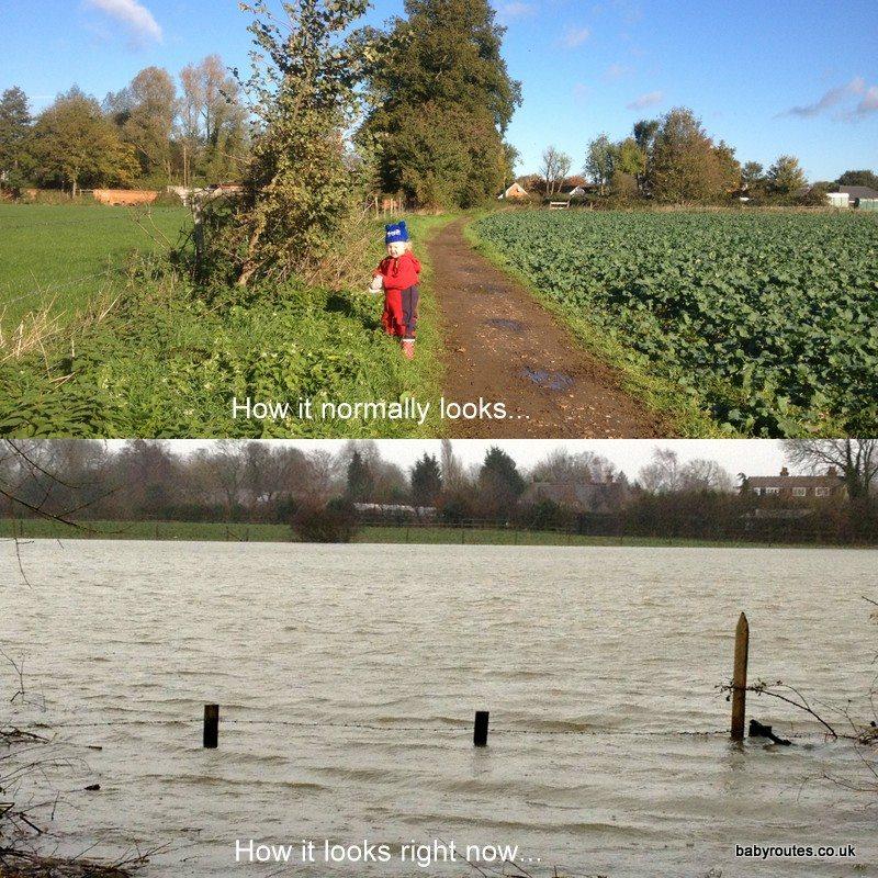 Flooded Henley and Shiplake Feb '14