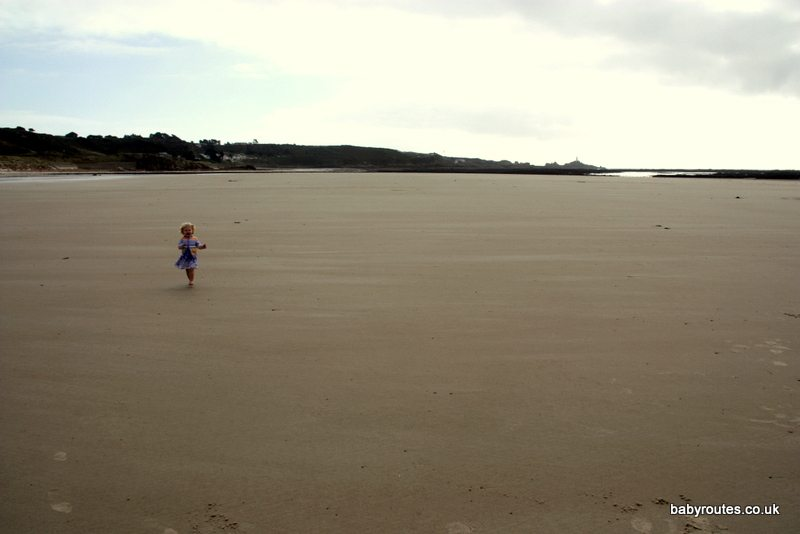 Room to run at St. Ouen's Bay, Jersey