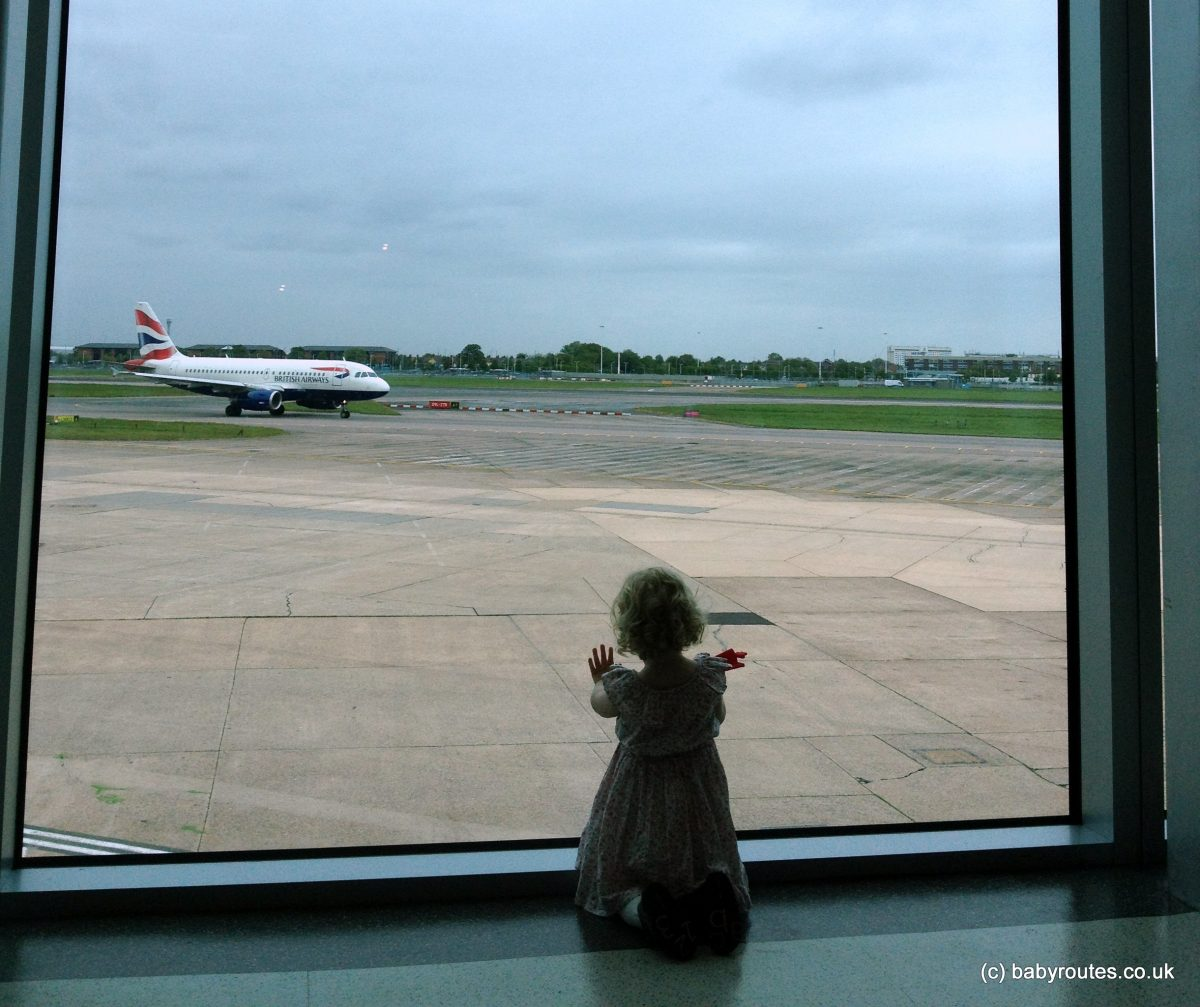 Heathrow airport with kids