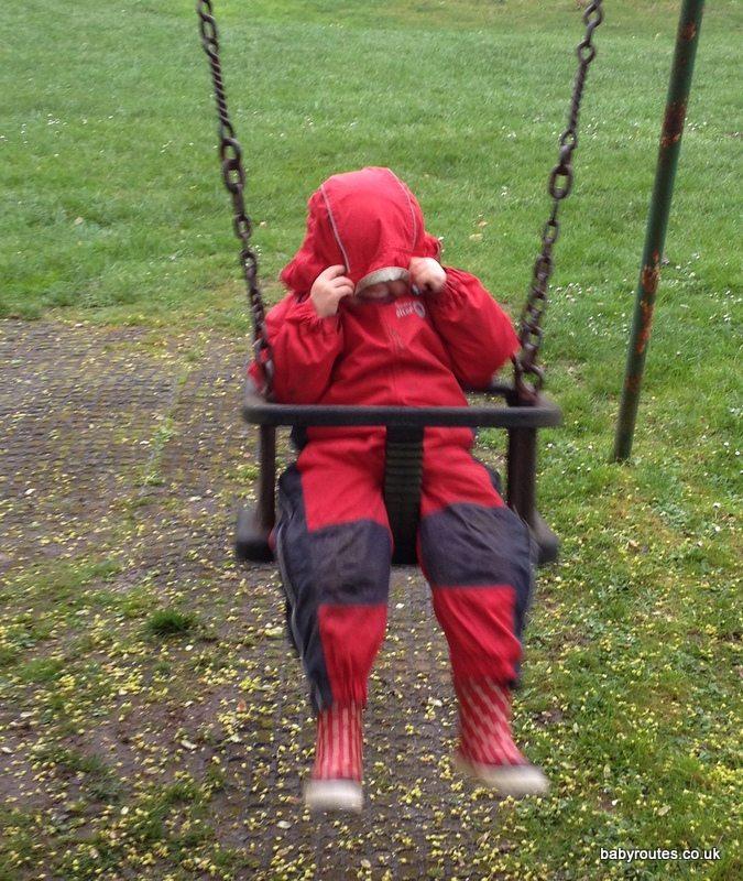 Swinging in the rain...
