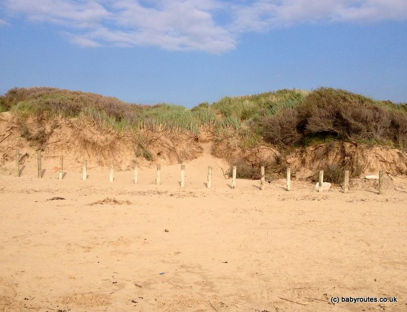 Sand dunes and golden sands at Berrow