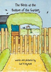 birds at bottom of garden