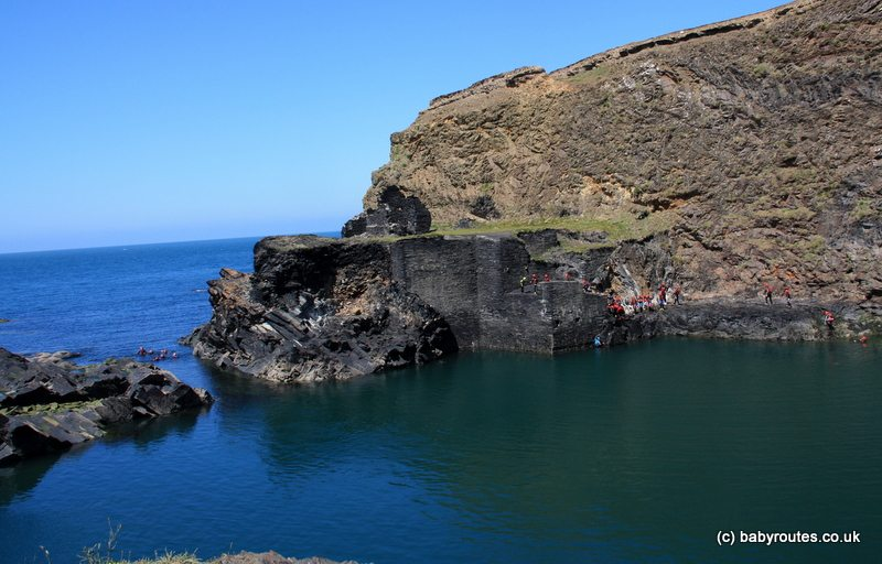 Blue Lagoon, Abereiddy Pembroke Coast Path Walk