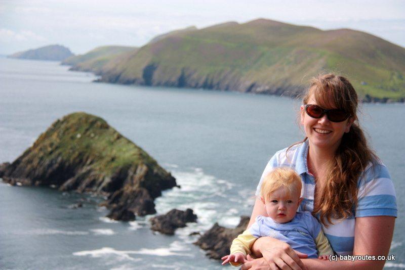 Coastal walking on the Dingle peninsula, Kerry, Ireland. Baby Routes