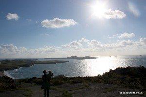 View fro Carn Llidi, St. Davids Head Walk, Pembrokeshire, Wales. Baby Routes