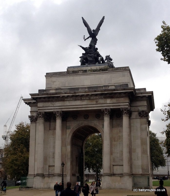 Wellington Arch, Green Park, London, Baby Routes Sightseeing Walk