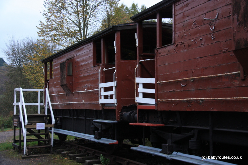 Disused railway carriages, Making Tracks, Cromford Walk, Peak District