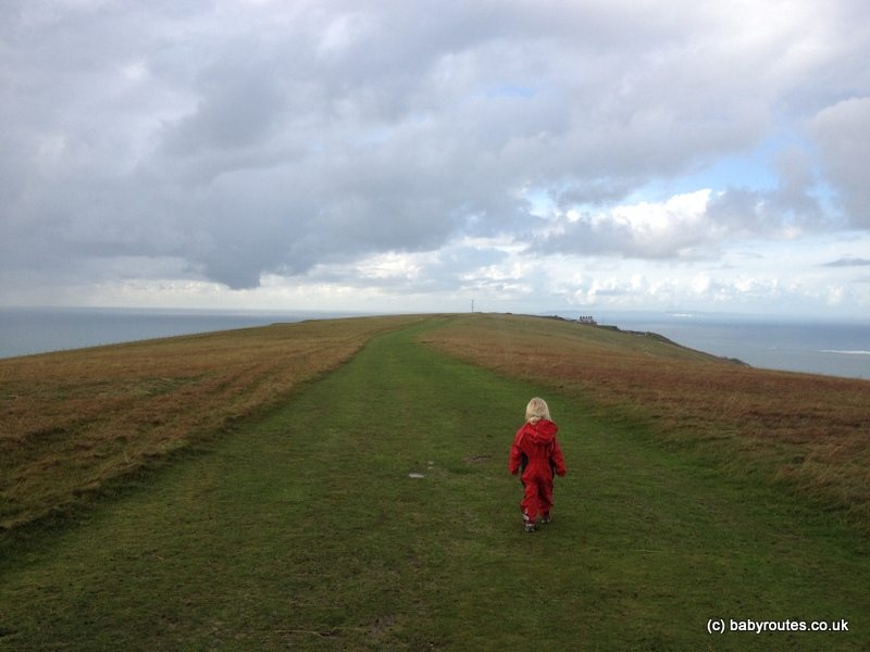 Walking at the Needles, Isle of Wight, Baby Routes