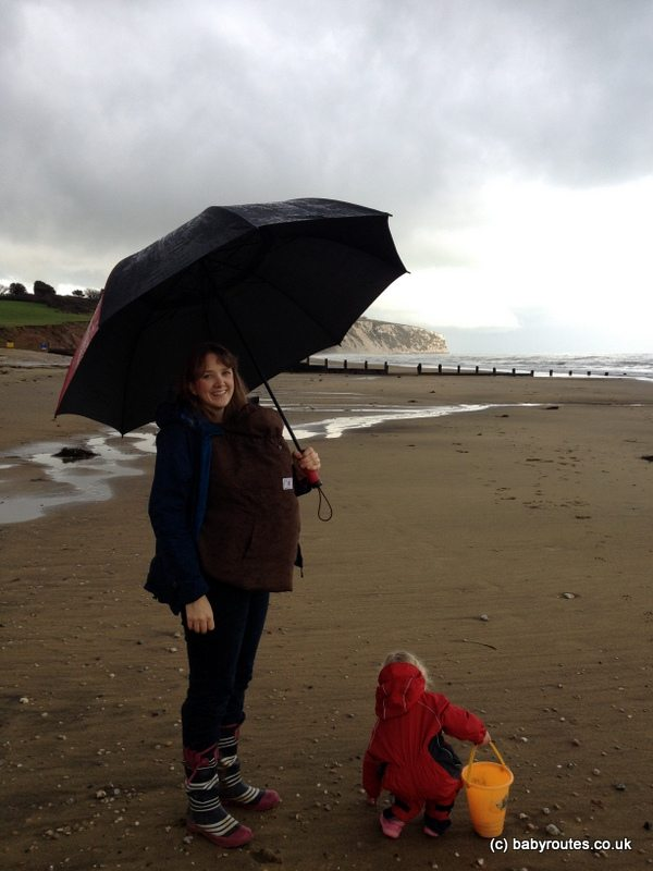 Fossil hunting on Yaverland Beach, Isle of Wight. Baby Routes