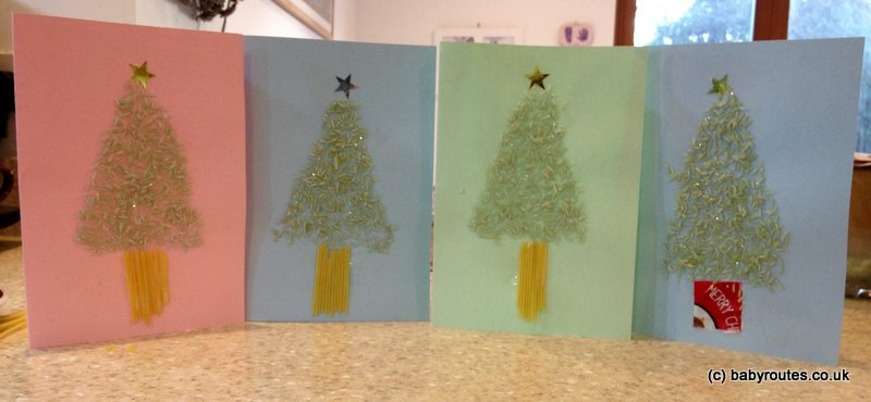 Super-easy store-cupboard Christmas cards!