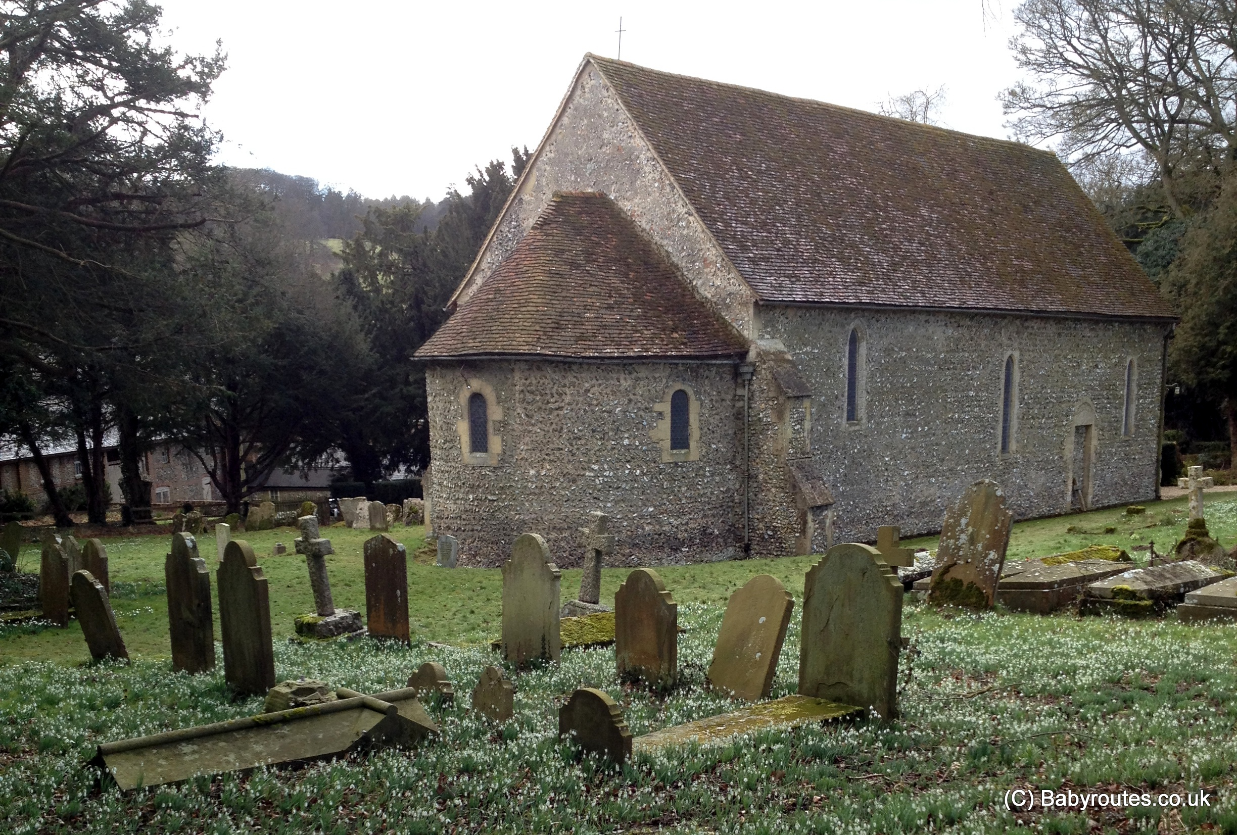 St. Botolph's Church, Swyncombe Snowdrop Walk, Baby Routes