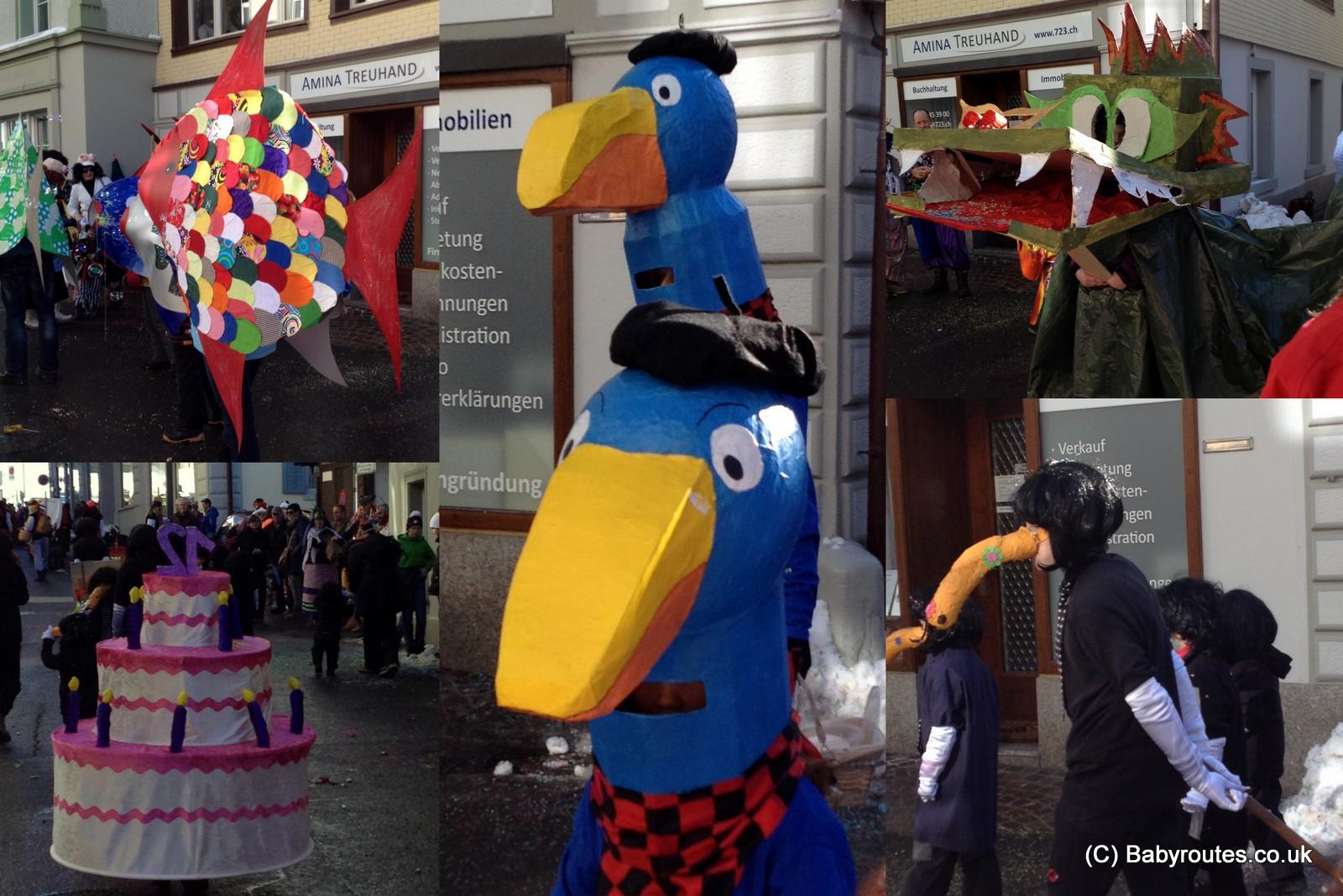 Chldren's Parade, Fasnach Einsiedeln, Dirty Thursday, Switzerland