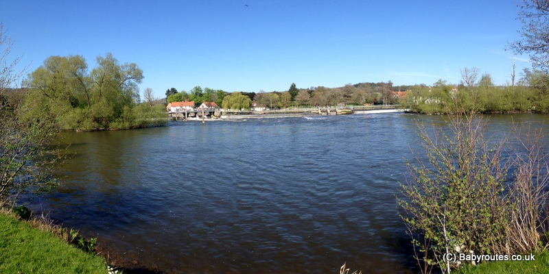 Hambleden Lock and weir, Mill End, Baby Routes