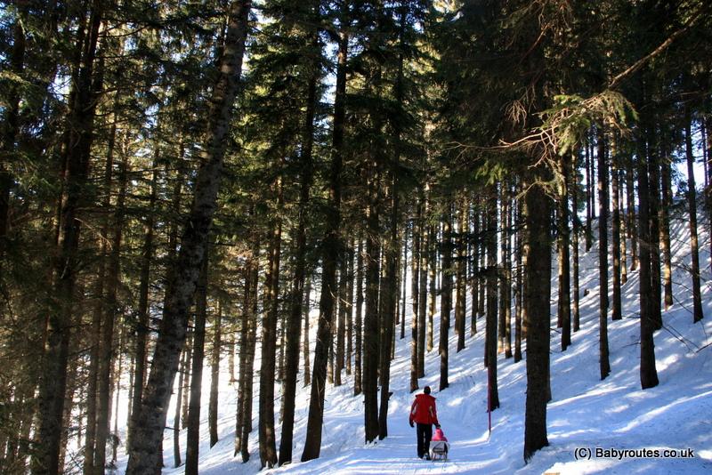 Winter walking above Brunni, Switzerland