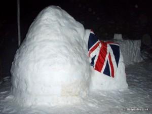Igloo and snow bar