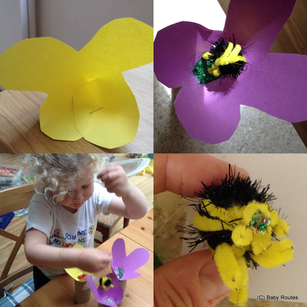 Pollination activities for kids and preschoolers, Baby Routes