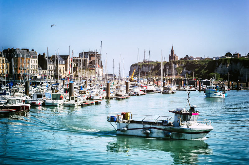 Dieppe harbour, France