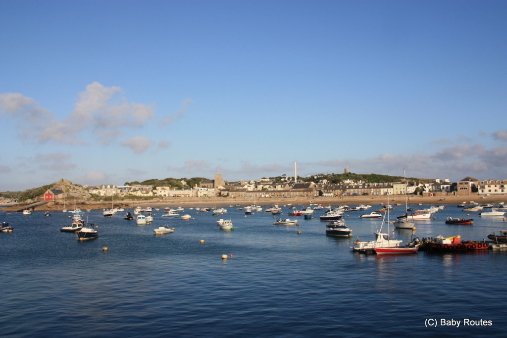 Hugh Town Harbour, Scillonian III Isles of Scilly Travel