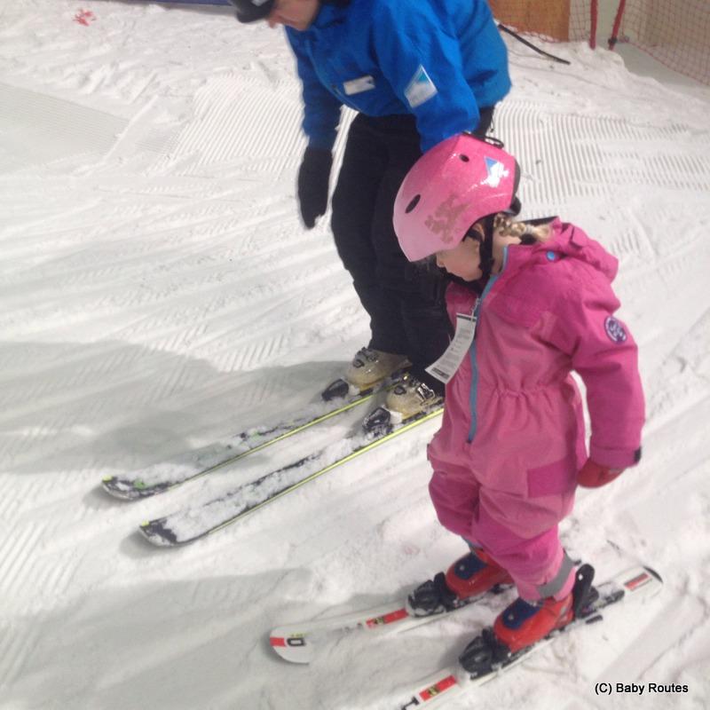 Indoor skiing with children, The Snow Centre, Hemel Hempstead