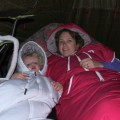 camping and sleeping bags, baby routes