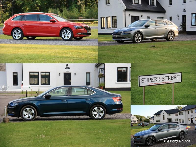 Skoda Superb review, Scotland, family car reviews, Baby Routes