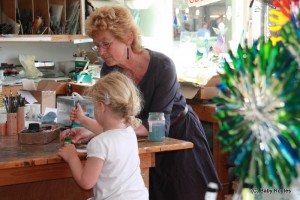 Painting with Oriel Hicks at The Phoenix Craft Studios, Baby Routes
