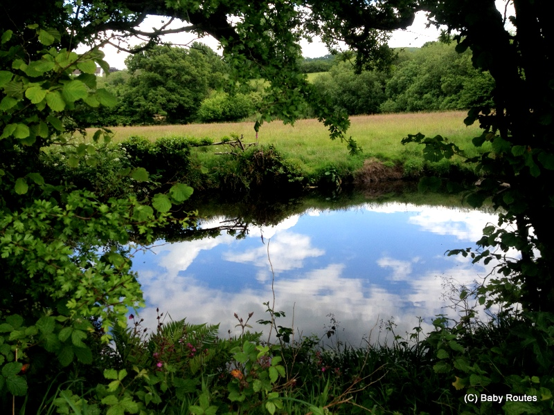Chagford Town and River Walk, Dartmoor, Devon, Baby Routes